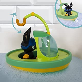 Bing 3581 Time, CBeebies, Wind Up Bath, Floating Boat, Squirts Water, Tough, Colourful, Well Made Toy, Ages 12 Months +