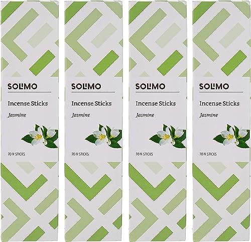 Amazon Brand Solimo Incense Sticks Jasmine 70 sticks pack Pack of 4