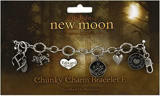 Twilight New Moon Bracelet Chunky Charm E (Edward)