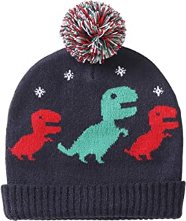 Bebé Niños Gorro de Punto cálido Beanie Invierno 6 Meses a 4 años niños niñas Sombrero de Ganchillo Motivo de Dinosaurio