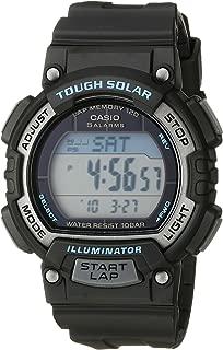 Women's STL-S300H-1ACF Solar Runner Digital Display Quartz Black Watch