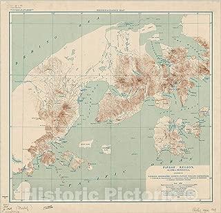 Historic Pictoric Map : Pavlof Region, Alaska Peninsula 1929, Pavlof Region, Alaska Peninsula, Antique Vintage Reproduction : 36in x 36in