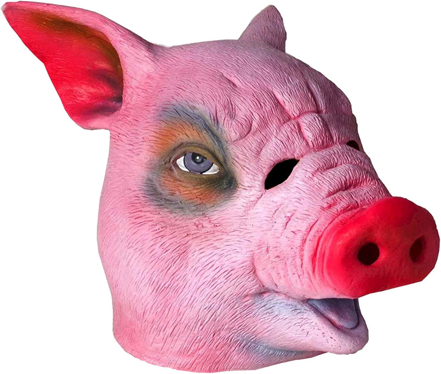 Adults Deluxe Pig Zoo Animal Latex Mask Costume Accessory