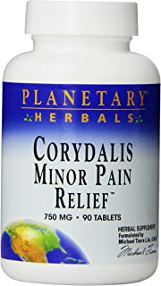 Planetary Herbals Minor Pain Relief Tablets, 750 mg, 90 Count