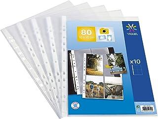 Viquel Lot de 10 Pochettes perforées pour photos 10x15 ou cartes postales