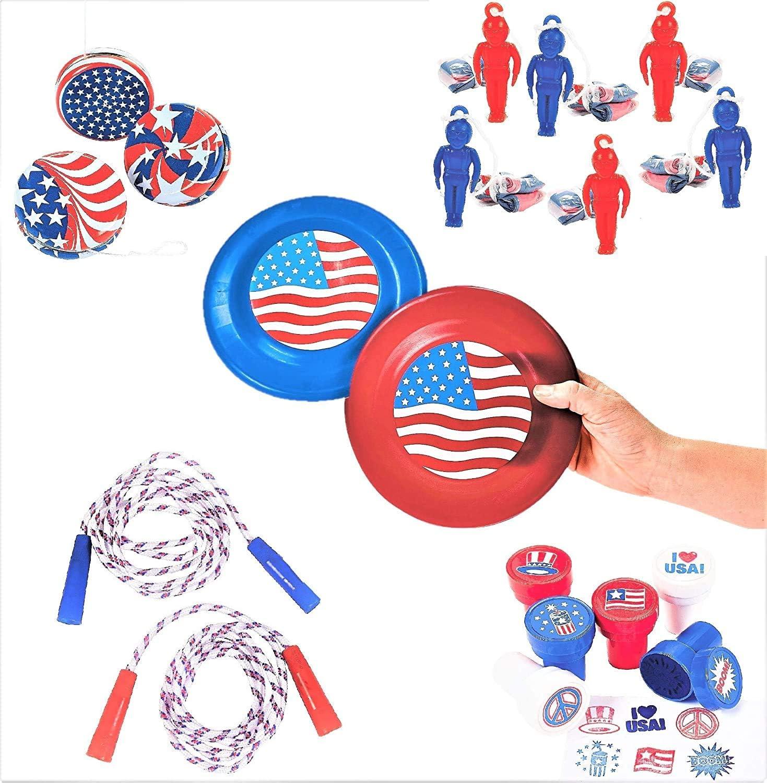 Patriotic Novelties Toys 19pc Prize Set Nashville-Davidson Mall Yo-Yos Ropes - St Dealing full price reduction Jump