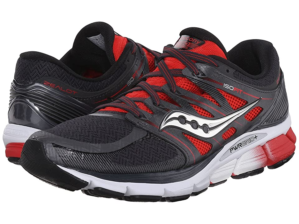 Saucony Zealot ISO (Red/Black/Silver) Men
