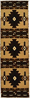 Rugs 4 Less Collection Southwest Native American Indian Runner Area Rug Design R4L 318 Beige / Berber (2'x7')