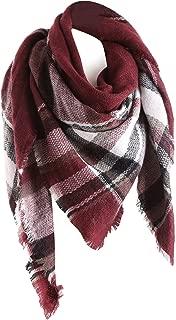 Surblue Warm Stylish Elegant British Style Color Blocking Plaid Shawl Scarf Blanket