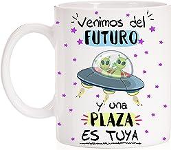 FUNNY CUP Taza Opositor Venimos del Futuro y una Plaza es Tuya Taza Regalo para opositor u opositora Ideal para motivación para exámenes.