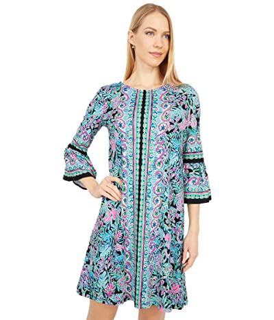 Lilly Pulitzer Ophelia Dress (Onyx Lets Get Wild Engineered Knit Dress) Women