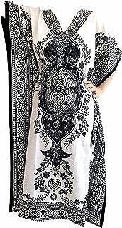 Floral Print Long Caftan/kaftan Tunic Dress Maxi Kaftan one Size Cover up Dresses for Women dashiki vintage maternity dress