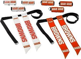 Franklin Sports Cleveland Browns Flag Football Set - 8 Flag Belts - 8 Player - Self Stick Tear-Away Flags - NFL Official Licensed Product