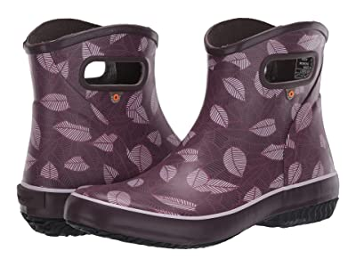 Bogs Patch Ankle Boot New Leaf (Raisin) Women