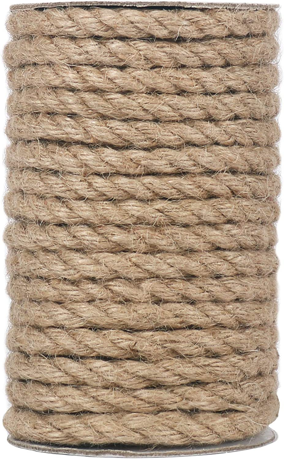 Vivifying 50 Max 85% OFF Feet 8mm Jute Rope for Heavy Cr Twine Natural Duty Super beauty product restock quality top