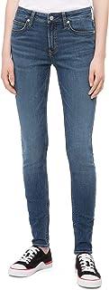 Calvin Klein Women's Mid Rise Super Skinny Fit Jeans