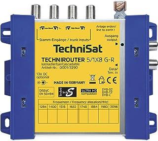 TechniSat TECHNIROUTER 5/1 x 8 G R kaskadierbar digitale Einkabellösung für 8 Teilnehmer (8 Signale über ein Kabel, Unicable)