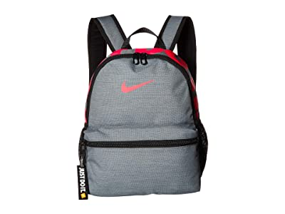 Nike Kids Brasilia JDI Mini Backpack (Little Kids/Big Kids) (Cool Grey/Black/Racer Pink) Backpack Bags