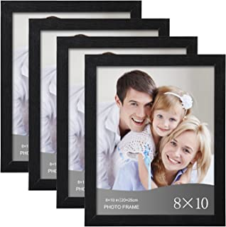 WOLTU 4 Piece 8x10 Inch Black Picture Frame Set with Plexiglass Cover DIY Gallery Art Wall Decor, PF01S81-4-x