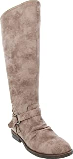 Rampage Women's Iamba Riding Boot with Wraparound with O-Ring Buckle Zip Closure and Flex Gore