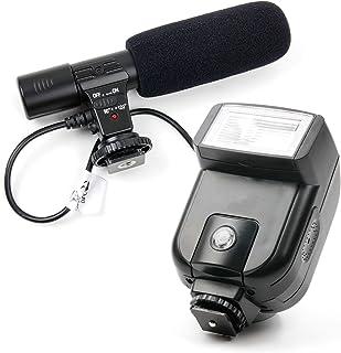 DURAGADGET Micrófono estéreo + Flash para cámara Canon EOS 550D / Rebel T2i Canon EOS 5D Mark III Canon EOS 5D Mark IV Canon EOS 5DS Canon EOS 5DS R