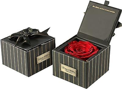 WANCR Immortal Flowers Preserved Flower Never Withered Flower Eternal Flower Rose Flower Gift Box Flowers Tanabata Birthday Gift Anniversary Send Girl Girlfriend (Red)