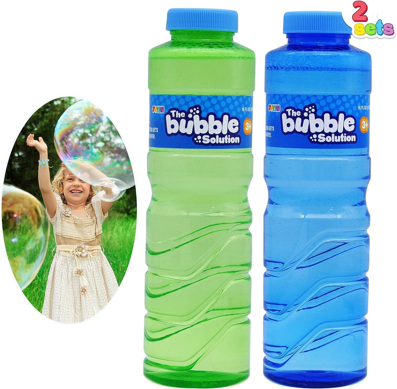 JOYIN 2 Pcs 16 oz Bubble Solution Refill (up to 5 Gallon) for La