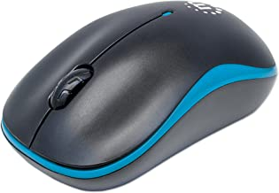 Manhattan Success Wireless Optical Mouse USB, 3 Buttons with Scroll Wheel, 1000 dpi, Blue/Black 179416