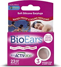 Bio Ears Soft Silicone EarPlugs Protection - 3 Pairs in PINK