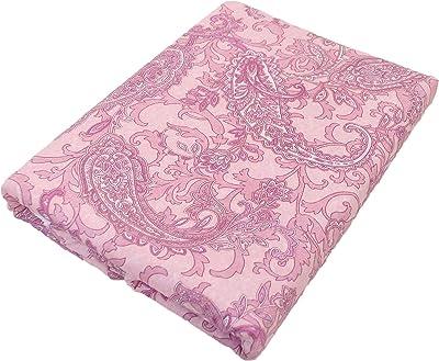 綿100% ガーゼ 掛け布団カバー 日本製 シングル 150cmX210cm ペイズリー 柄 ピンク