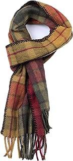 Cosy Weave Wool Scarf Scottish Tartan Plaid Merino Wool Fall/Winter Scarves for Men Women 10 x 69 Inches