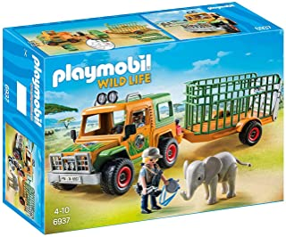 PLAYMOBIL Ranger's Truck with Elephant [Amazon Exclusive]