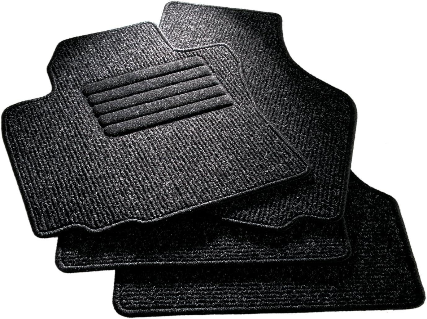 4/piezas CarFashion 255239 Juego de alfombrillas Negro