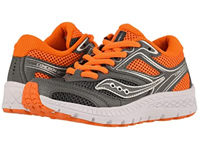 Saucony Kids Cohesion 12 LTT (Little Kid/Big Kid) (Grey/Orange) Boys Shoes