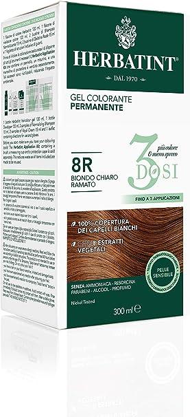 Herbatint Gel colorante permanente 3dosis – 7C rubio ceniza 300 ml