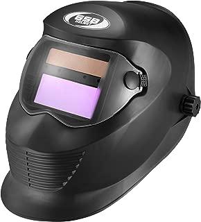 GLX Helmets Digital Auto-Darkening Solar Welding Helmet with Manual Shade Adjustment (Matte Black, One Size)