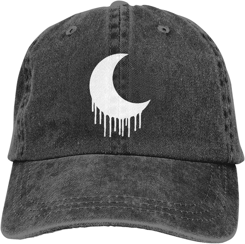 Edgy Goth Crescent Moon Man Sport Baseball Cap Classic Dad Hat Winter