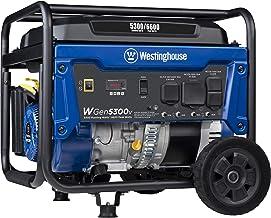 Westinghouse WGen5300v Portable Generator with 120/240 Volt Selector 5300 Rated 6600 Peak..
