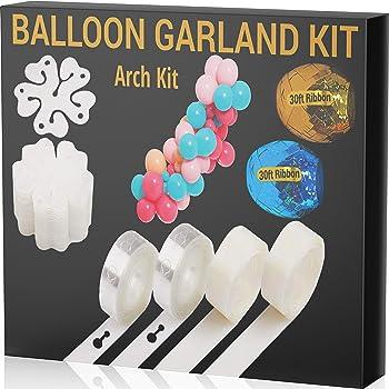 JOYEZA Balloon Arch Kit Garland Strip Decorating Strip Kit - 32ft Tape Strips 200 Glue Dots, 60ft Ribbons & more - 100% Lifetime Satisfaction Guarantee for Parties Wedding Birthdays