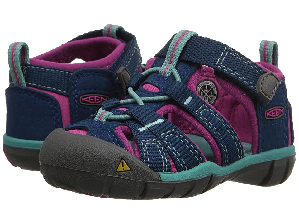 Keen Kids Seacamp II CNX (Toddler) (Poseidon/Very Berry) Girls Shoes