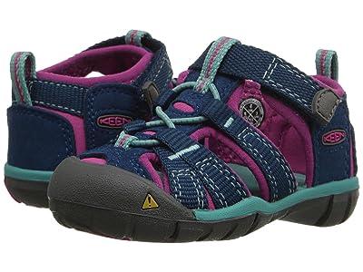 Keen Kids Seacamp II CNX (Toddler) (Poseidon/Very Berry) Girls Shoes