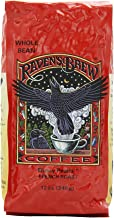 Raven's Brew Whole Bean Ebony Pearls, 12-Ounce Bags (Pack of 6)