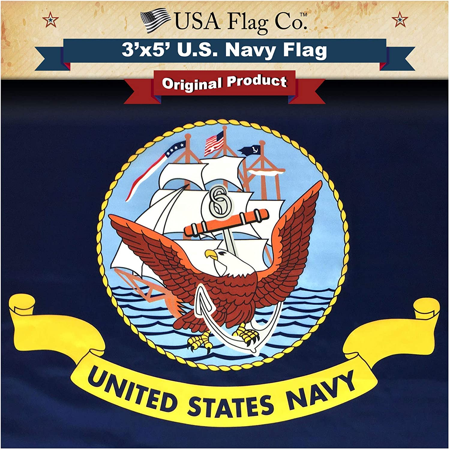 Sale USA Flag Co. US Navy is 100% American Made: The Fashion 3x5 Ou Best