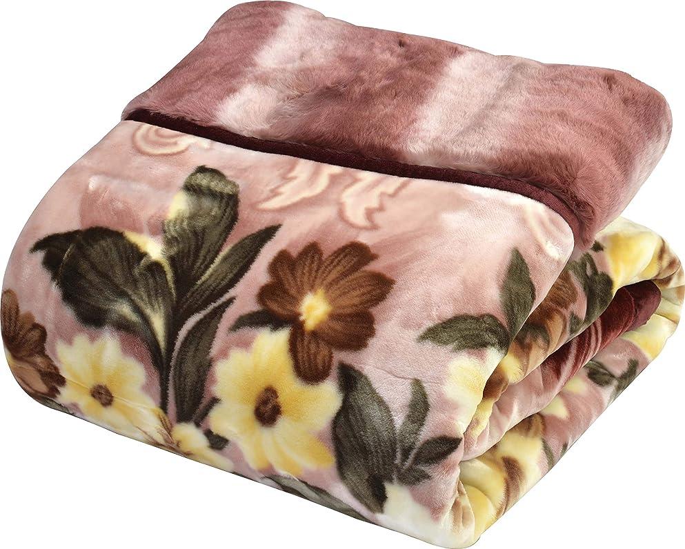 牛肉バルセロナ血まみれ西川(Nishikawa) 毛布 ピンク シングル 140×200㎝ 日本製 2枚合わせ 洗える アクリル 静電気帯電抑制素材 2K2601