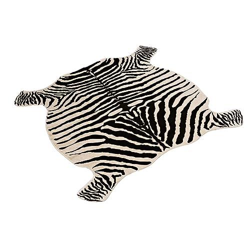 textilerfromchina Area Rug Faux Zebra Print Rug 4x4.6 Feet Rug/Mat/Carpets