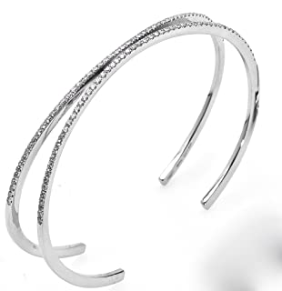 Virano Gioielli, Bracciale rigido oro bianco e diamanti
