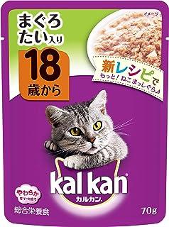 カルカン パウチ 高齢猫用 18歳から まぐろ たい入り 70g×16袋 (まとめ買い) [キャットフード]