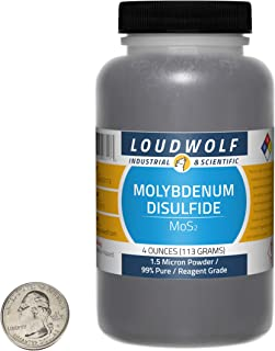 Molybdenum Disulfide / 4 Ounce Bottle / 99% Pure Reagent Grade / 1.5 Micron Powder/USA