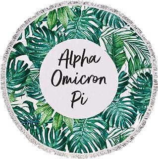 Sorority Shop Alpha Omicron Pi - Palm Leaf - Fringe Towel - Blanket