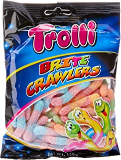 Trolli Brite Crawlers Sour Candy, 10 x 150 Grams